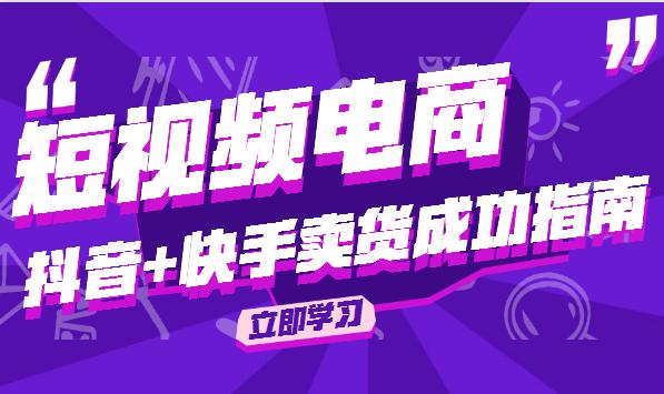 抖音+快手卖货成功指南短视频电商视频教程