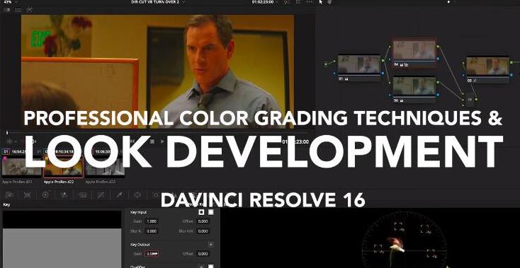 DaVinci Resolve 16国外专业大师色彩分级技术达芬奇调色视频教程-中文字幕